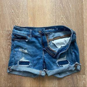 AE Distressed Blue Jean Shorts /Next Level Stretch